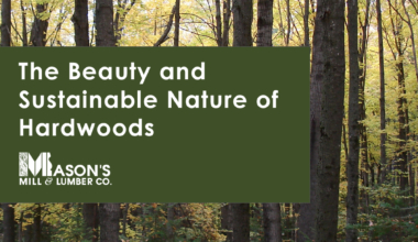 The Beauty and Sustainable Nature of Hardwoods - Mason's Mill & Lumber Co.