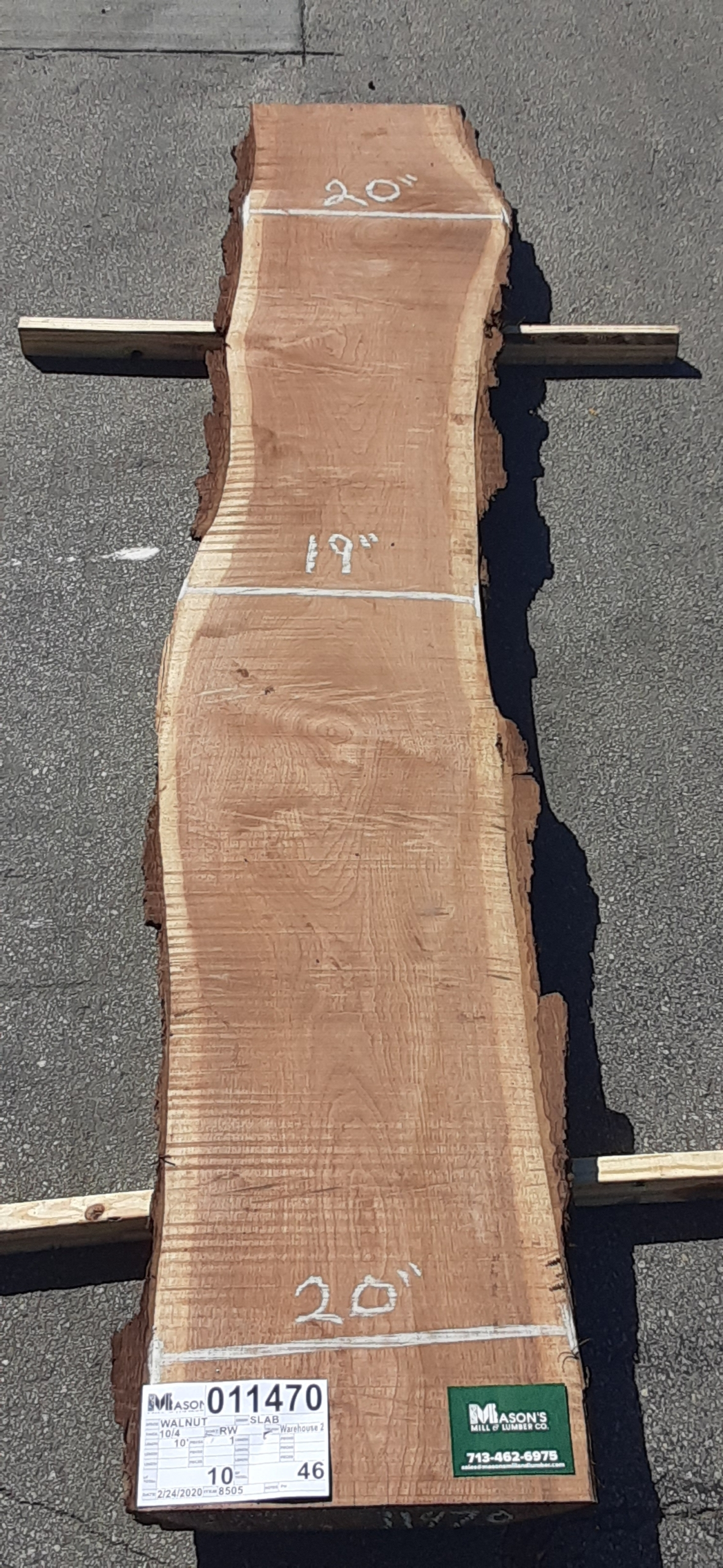 Walnut Slab 11470 Image