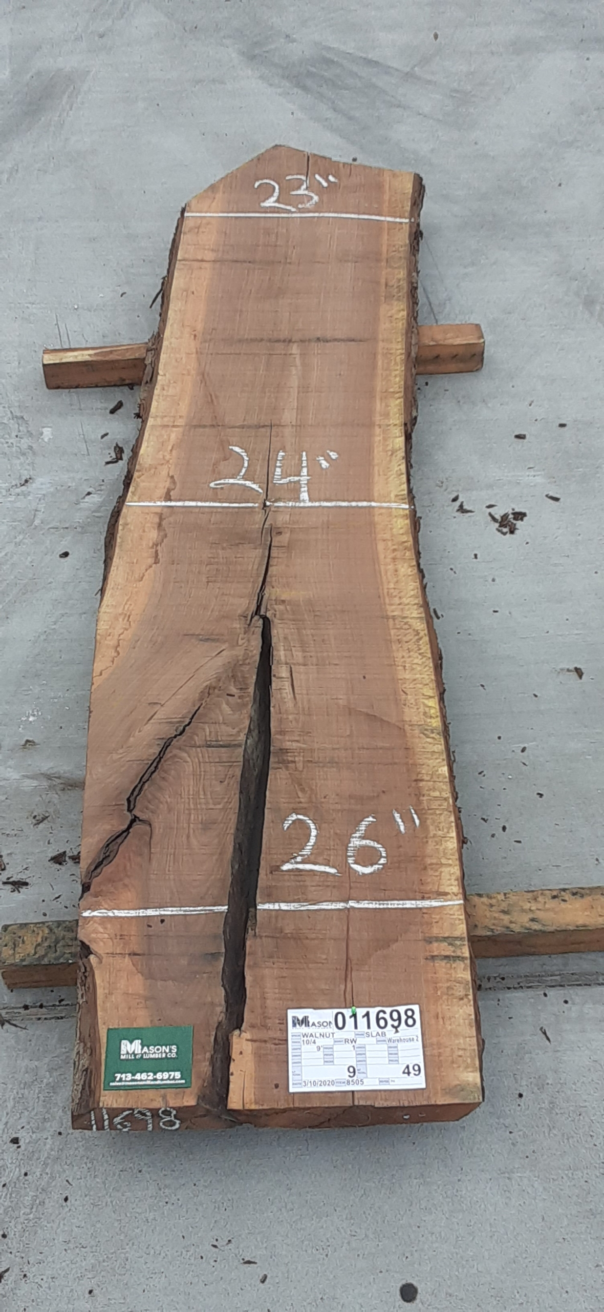 Walnut Slab 11698 Image