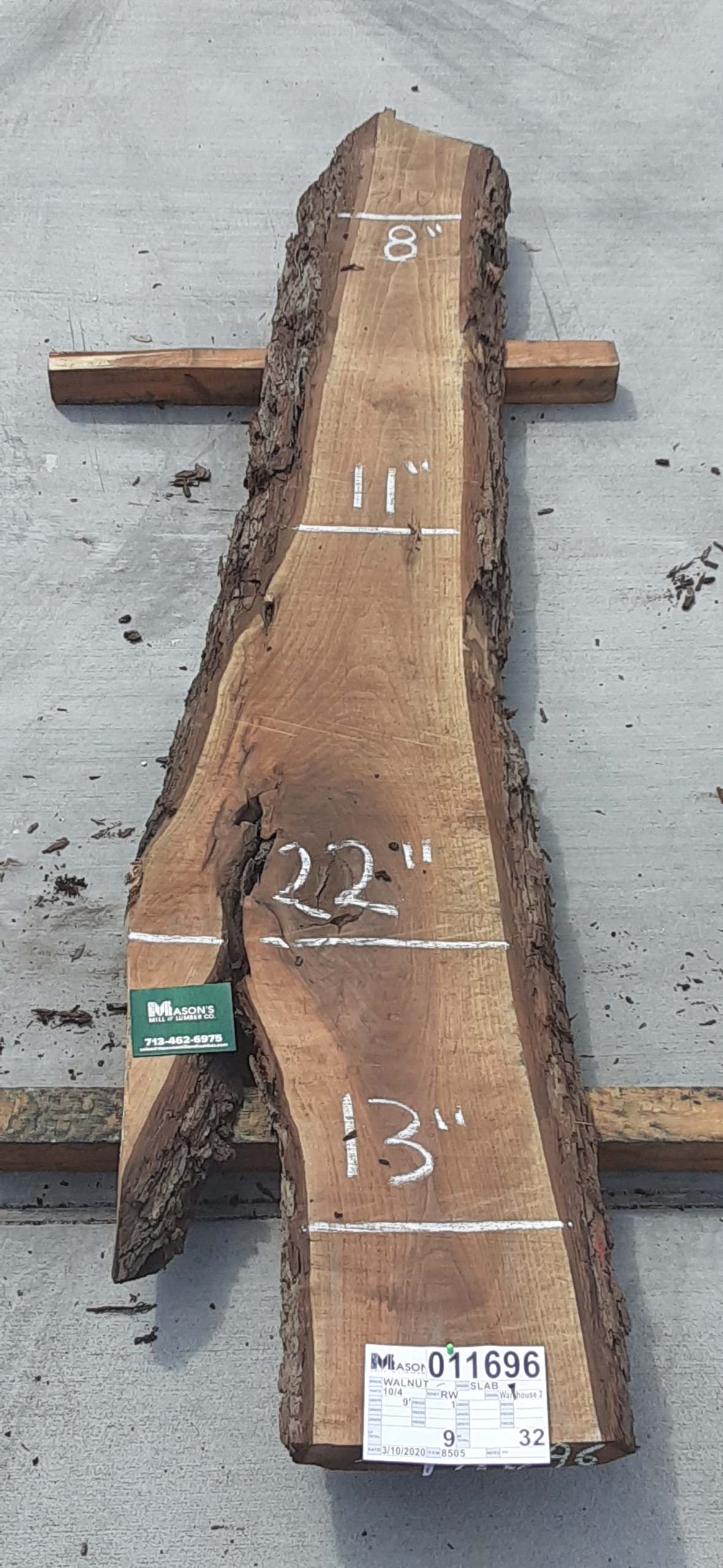 Walnut Slab 11696 Image