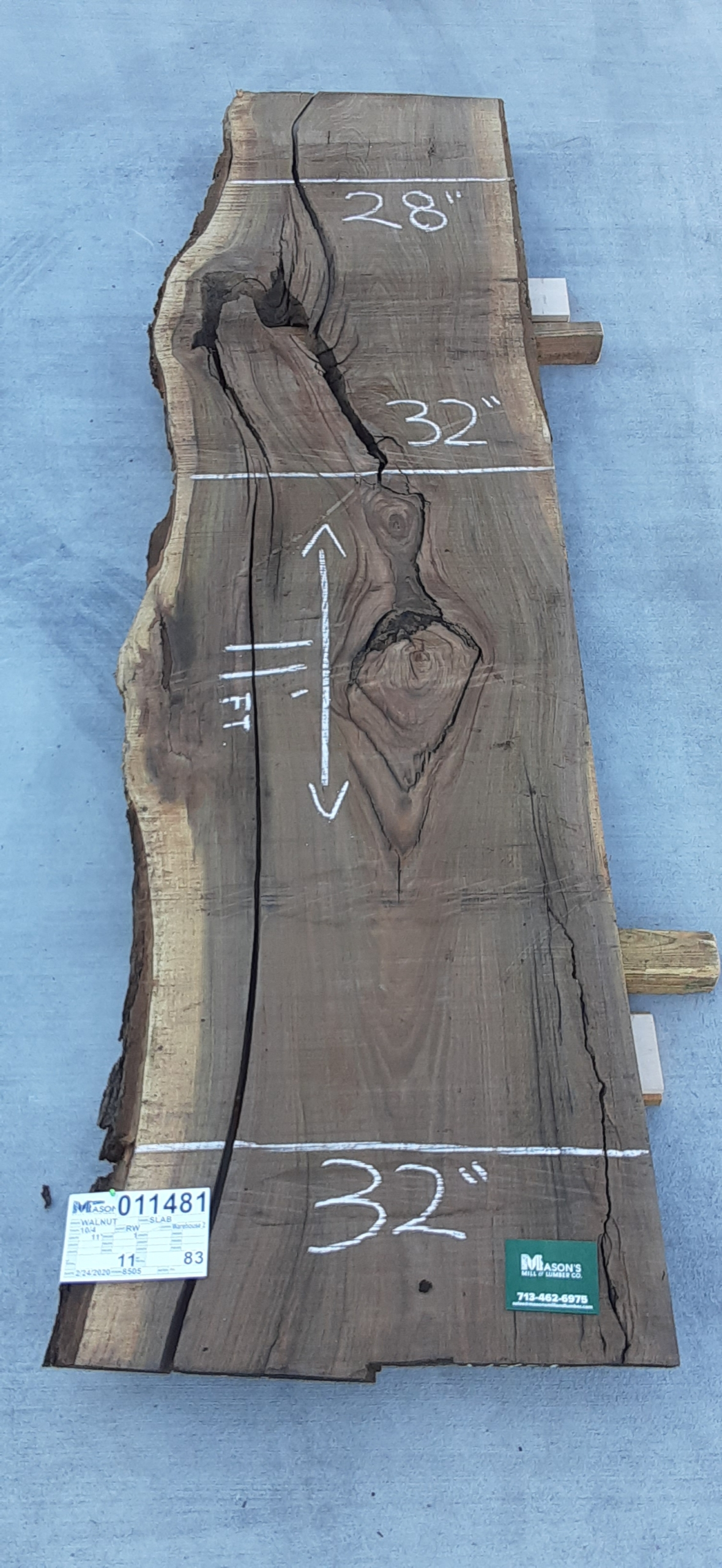 Walnut Slab 11481 Image