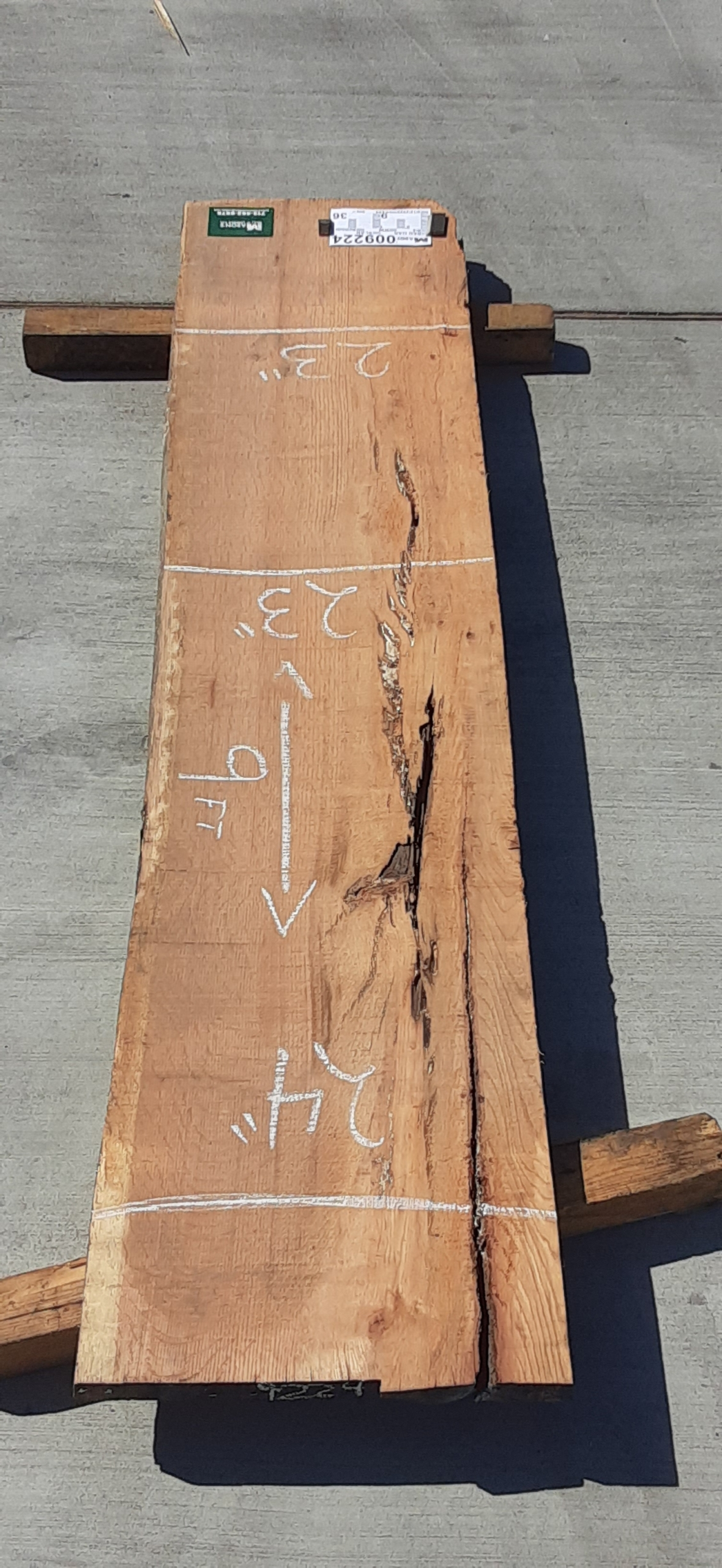 Red Oak Slab 9224 Image