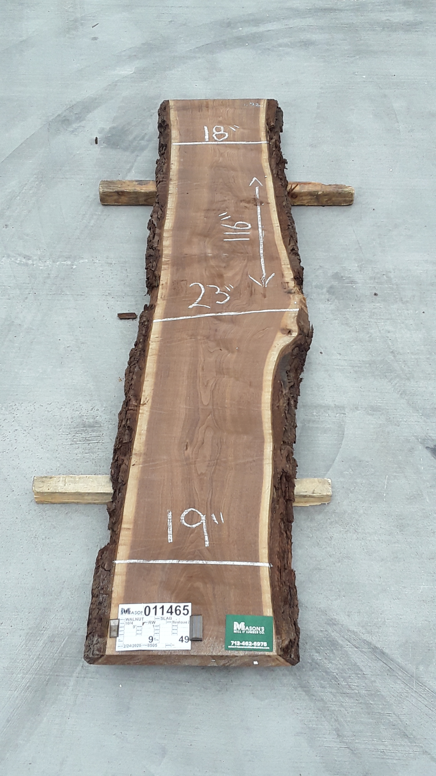 Walnut Slab 11465 Image